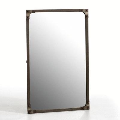 Lenaig Industrial Style Mirror with Rivet Trim Lenaig Industrial Style Mirror with Rivet Trim La Redoute Interieurs