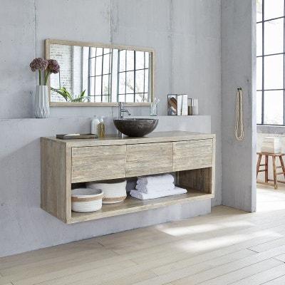 Meuble salle de bain bois gris en solde | La Redoute