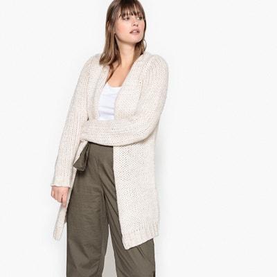 Sweter rozpinany z grubej dzianiny CASTALUNA