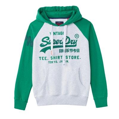 Sweater met kap en print vooraan Sweater met kap en print vooraan SUPERDRY