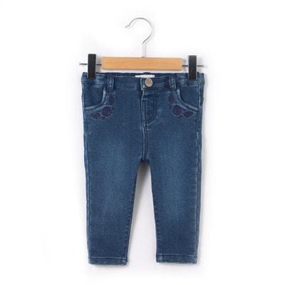 Jeans slim bordados no bolso, 1 mois - 3 ans La Redoute Collections