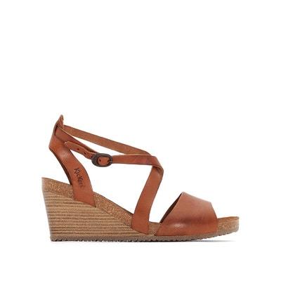 Spagnol Leather Wedge Sandals KICKERS