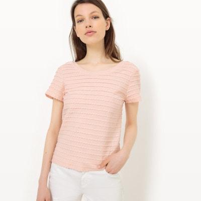 T-shirt tinta unita, ornata MADEMOISELLE R