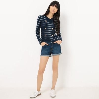 Nautical Jacket-Style Cardigan La Redoute Collections