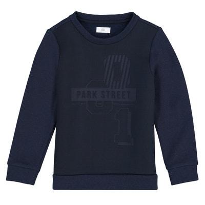 Sweater in twee stoffen, neopreen en molton Sweater in twee stoffen, neopreen en molton La Redoute Collections