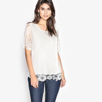 Shirt, Feinstrick und Guipure-Spitze Shirt, Feinstrick und Guipure-Spitze ANNE WEYBURN
