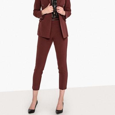 Pantalon 7 8ème, maille stretch plis marqués LA REDOUTE COLLECTIONS. Soldes 653fa5ba1630