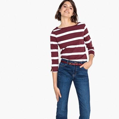 Tee-shirt marinière, détails manches Tee-shirt marinière, détails manches  LA REDOUTE. Soldes 8925e09c158d