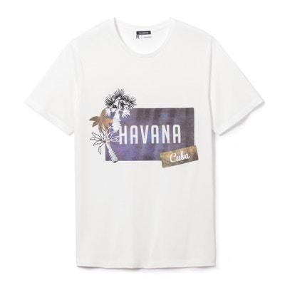 T-shirt estampada, gola redonda, puro algodão T-shirt estampada, gola redonda, puro algodão La Redoute Collections