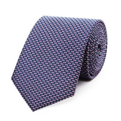 bcac59e0a25f Cravate en pure soie à micro motif géométrique Cravate en pure soie à micro  motif géométrique