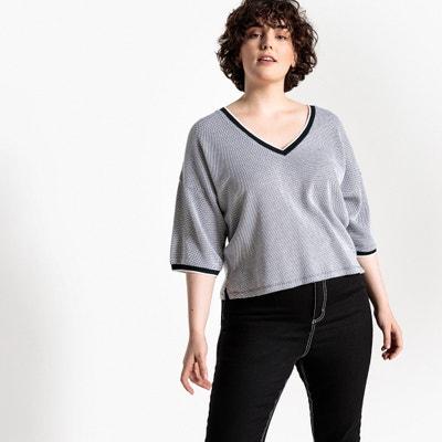 T-shirt com decote em V, mangas curtas T-shirt com decote em V, mangas curtas CASTALUNA