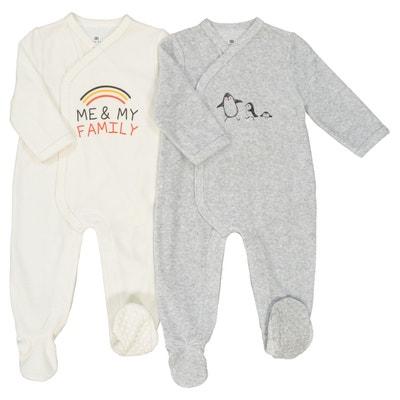 Pijama em veludo, prematuro - 2 anos Pijama em veludo, prematuro - 2 anos La Redoute Collections