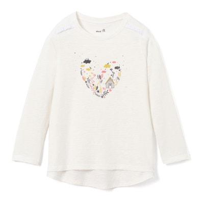 T-shirt a maniche lunghe cuore da 3 a 12 anni La Redoute Collections