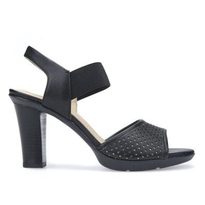 Sandali in pelle con tacco D JADALIS C GEOX