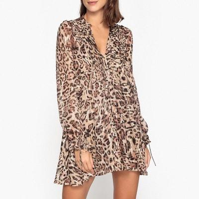 Robe évasée voile léopard THE KOOPLES