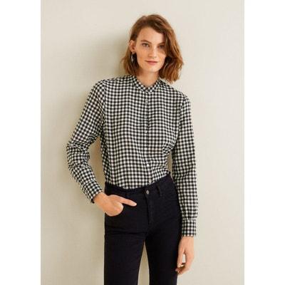 Chemise à carreaux noir et blanc en solde   La Redoute 538b6bf75f42