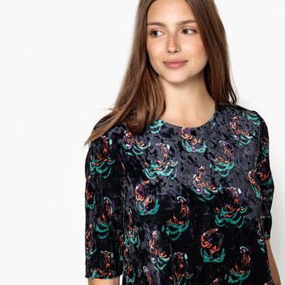 Vestido patinadora con estampado de flores, corto Vestido patinadora con estampado de flores, corto SEE U SOON