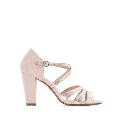Sandales cuir compensées détail perles et franges - MADEMOISELLE R - RougeMademoiselle R xWBUul
