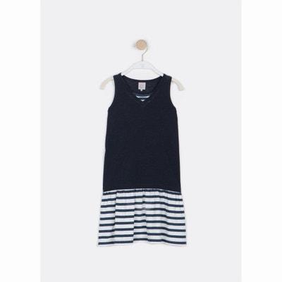 Printed Stripes Vest-Style Dress, 6-16 Years LITTLE KARL MARC JOHN