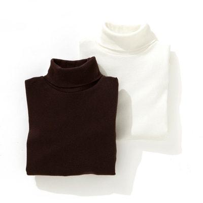 Camiseta de cuello alto 3-12 años (lote de 2) Oeko Tex La Redoute Collections