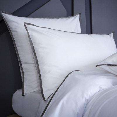 Taie d'oreiller, percale de coton 120 fils Taie d'oreiller, percale de coton 120 fils BLANC CERISE