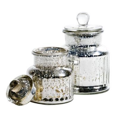 Kleine bonbonnière in gemercuriseerd glas, Elda Kleine bonbonnière in gemercuriseerd glas, Elda La Redoute Interieurs