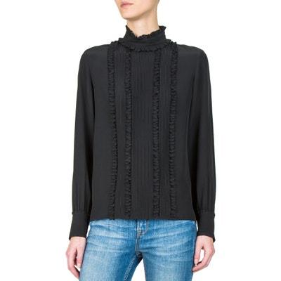 Long-Sleeved High Neck Silk Blouse Long-Sleeved High Neck Silk Blouse THE KOOPLES
