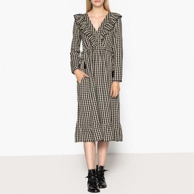 Robe longue à carreaux, manches longues REGAL Robe longue à carreaux, manches longues REGAL LEON AND HARPER