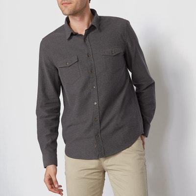 Camisa de franela, con manga larga y corte regular Camisa de franela, con manga larga y corte regular La Redoute Collections