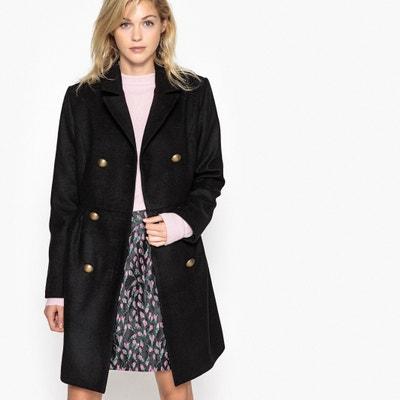 Dwurzędowy płaszcz dopasowany w talii La Redoute Collections