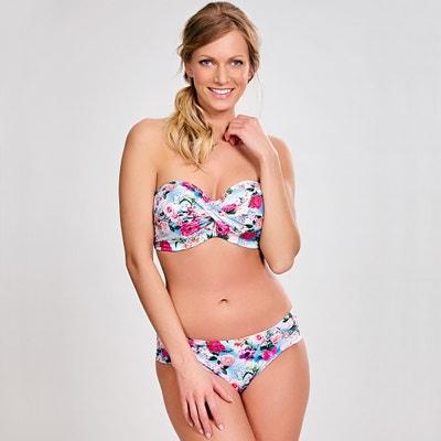 Floral Print Bandeau Bikini Top PANACHE BAIN