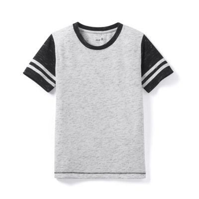 T-shirt lisa com gola redonda, mangas curtas T-shirt lisa com gola redonda, mangas curtas La Redoute Collections