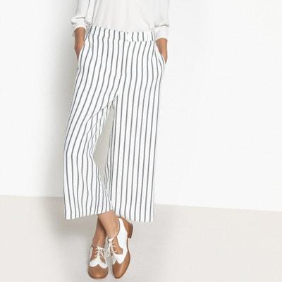 Falda pantalón recta con estampado y largo midi 3/4 Falda pantalón recta con estampado y largo midi 3/4 VERO MODA