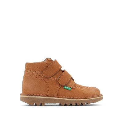 Boots cuir à scratch Neovelcro Boots cuir à scratch Neovelcro KICKERS