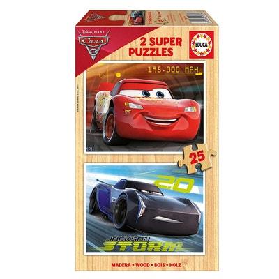 d3393d4b558900 Puzzle en bois 2 x 25 pièces - Cars 3   Flash McQueen et Jackson Storm