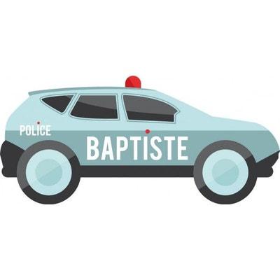 Sticker Prénom : Voiture Police personnalisée Sticker Prénom : Voiture Police personnalisée DECOLOOPIO