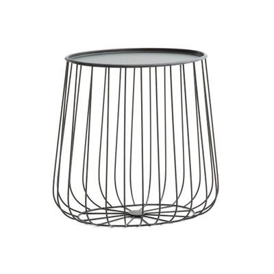 Ovaler Beistelltisch Cage aus Metallstreben Ovaler Beistelltisch Cage aus Metallstreben AM.PM.