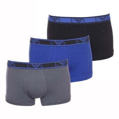Lot de 3 boxers en coton stretch , et Lot de 3 boxers en coton stretch.  Soldes. EMPORIO ARMANI 57cfe5c300e0