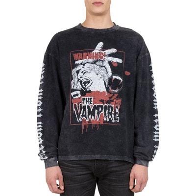 T-shirt manches longues coton sérigraphie vampire T-shirt manches longues coton sérigraphie vampire THE KOOPLES