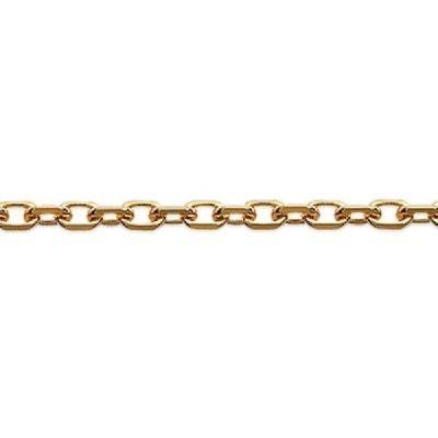 b21f60722b238 Collier Chaîne Cou 60 cm Maille Forçat Diamantée 1,5 mm Plaqué Or 750 SO