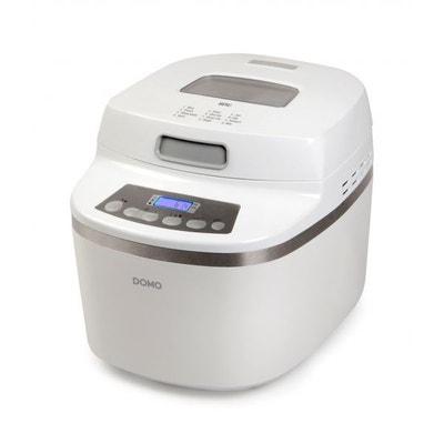 Machine à Pain automatique 1000gr Blanche - 12 programmes - Silencieux - Livre de recettes ! DOMO