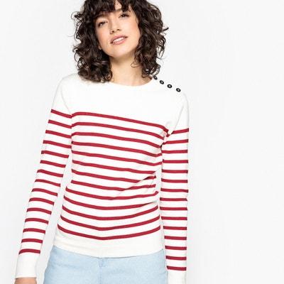 Pullover im Marine-Stil mit rundem Ausschnitt Pullover im Marine-Stil mit rundem  Ausschnitt. Sale - Letztmalige Reduktion. La Redoute Collections 1d3ba6f0d3