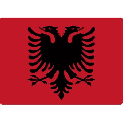 Informatique Tapis de souris drapeau Albanaie CBK
