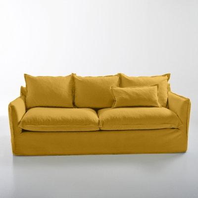 canap convertible en coton lin odna bultex la redoute interieurs la redoute. Black Bedroom Furniture Sets. Home Design Ideas