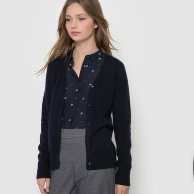 Pure Cashmere Jersey V-neck Cardigan Pure Cashmere Jersey V-neck Cardigan La Redoute Collections
