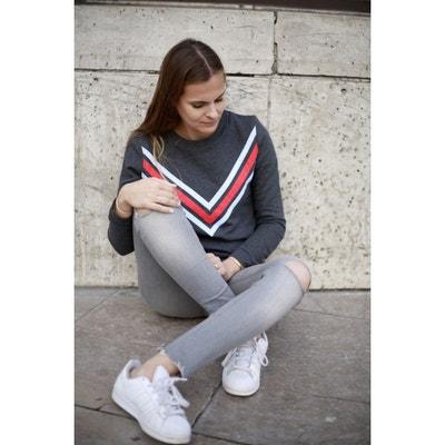 Sweatshirt col rond avec motifs graphiques sur le devant DADA SPORT