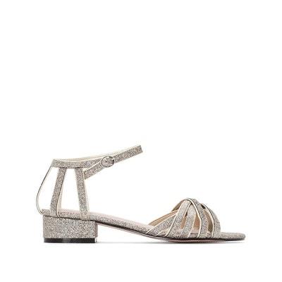 Sandales cuir compensées détail perles et franges - MADEMOISELLE R - RougeMademoiselle R L0y87j9