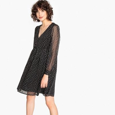 Getupftes Kleid mit ausgestellter Schnittform Getupftes Kleid mit ausgestellter Schnittform MADEMOISELLE R