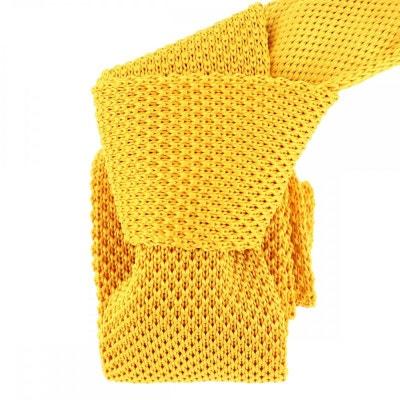 Cravate Tricot. Jaune bouton d'or Cravate Tricot. Jaune bouton d'or CLJ CHARLES LEJEUNE