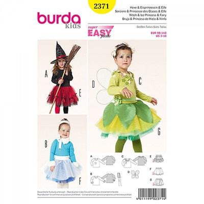 Patron déguisement enfant sorcière, princesse des glaces & elfe, Burda 2371 CAREFIL
